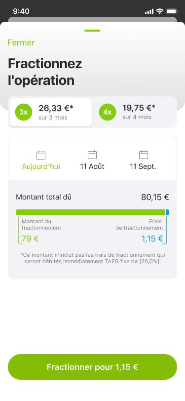 Oney+ paiement fractionné